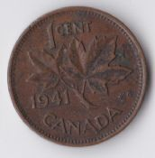 Canada, George VI, One Cent 1941, F, WB930